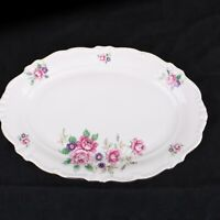 Platter Serving Plate Winterling Pink & Purple Flower Pattern Bavaria Germany
