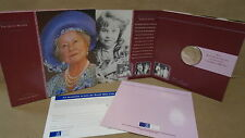 United kingdom 2000 queen mother elizabeth centennial 5 pound coin royal mint