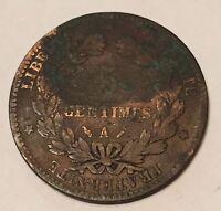 5 Centimes Cérès Bronze 1880A N1