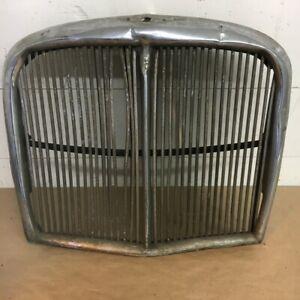 OEM 1966-1968 Jaguar 420 Front Radiator Bumper Chrome Grille Original Part