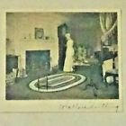 Wallace Nutting Untitled Colonial Interior Signed Print c1911 Grandfather Clock