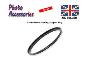 77mm-82mm Step Up Stepping Up Filter Ring Adapter