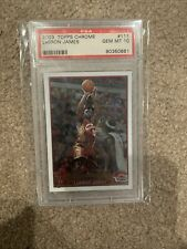 2003 Topps Chrome LeBron James Rookie Card 111 PSA 10 Truly Centered Both Sides