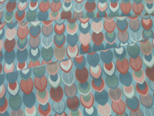 Stoffe Baumwoll Jersey Stenzo puder rote Blätter auf dmint 0,5m