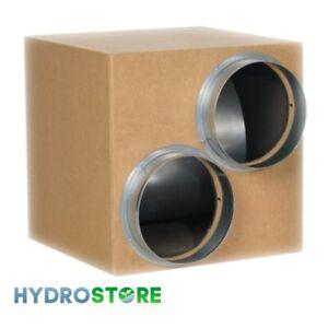 """TORNADO Acoustic Wooden Box Fan 8"""" 200mm (3250m3/h) Twin Inlet."""
