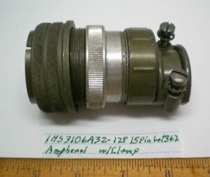 1 MS3106A32-12P Military Plug w/ Clamp Size 32, AMPHENOL, Lot 362, Made in USA