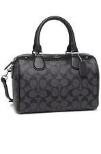 NWT Coach F58312 F32203 Mini Bennett Satchel Handbag Purse Bag Smoke Black