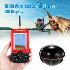100m Wireless Smart Fish Finder Rechargeable Sonar Sensor Fishfinder Dot Matrix