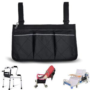 Wheelchair Armrest Accessories Storage Bag Wheelchair Side Bag Zip Storage Bag