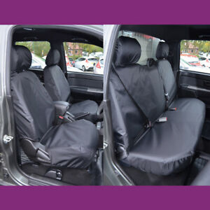 Isuzu Rodeo 2003-2012 Black Waterproof Tailored Front Rear Seat Covers UK Made