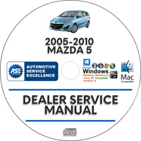 Mazda 5 2005-2010 Factory Service Repair Manual