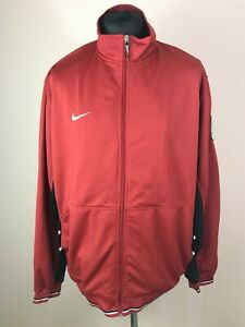 Nike Red Track Jacket Men's Size XL Full-Zip Tracksuit Top