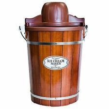 Nostalgia, 6-Quart Wood Bucket Electric Ice Cream Maker