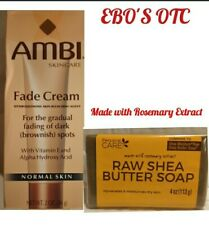 AMBI Skincare Fade Cream for Normal skin 2oz & Raw Shea butter Soap Combo Set