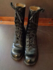 U.S. Military Issue Vietnam Black Leather Combat Jump Men's Boots Size 7N 1961