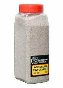 Woodland Scenics ~ New 2020 ~ Light Gray Medium Ballast ~ Any Scale ~ 32oz B1381