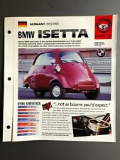 """1955 - 1965 BMW Isetta Coupe IMP """"Hot Cars"""" Spec Sheet Folder Brochure Awesome"""