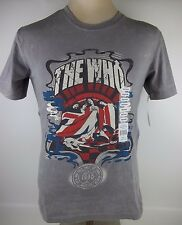 New THE WHO Band Rock & Roll Hall of Fame Inductees Graphic T-Shirt Gray MEDIUM