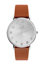 ICE WATCH SALE! CITY TANNER CARAMEL SILVER WRIST WATCH 001507 RRP $199