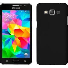 Funda Rígida Samsung Galaxy Grand Prime - goma negro + protector de pantalla