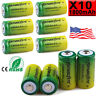 Lot Rechargeable Skywolfeye 3.7V CR123A 123A CR123 16340 1800Mah Battery+Charger