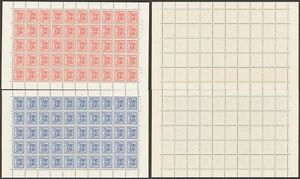 Belgian Congo 1957 - Postage Due Full Sheet - MNH Stamps I791