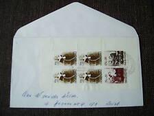 FDC 136a - E136a blok kinderzegels 1974 op brief