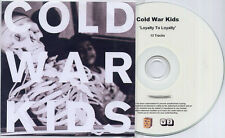 COLD WAR KIDS Loyalty To Loyalty UK numbered 13-trk promo CD