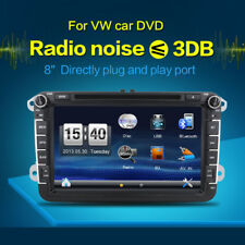 2 Din 8 Inch Universal In Dash Car DVD Player GPS Nav Car Radio PC Stereo For VW