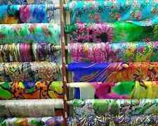 10 X 0.5 Yard Printed Pure Silk Chiffon Fabric Material for Scarf, Good Quality