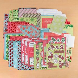 Create and Craft Fancy Flocking Christmas Card Making Kit Bundle