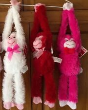 "20"" Plush Hanging Monkeys STUFFED ANIMAL soft HANDS monkey VALENTINES DAY new"