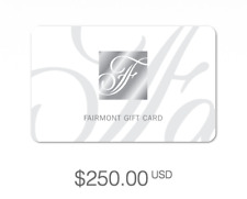 Fairmont Hotels Gift Card $250 USD - Redeemable Worldwide in any Currency