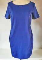 New Look Women's Dress Blue Size 12 Sheath Work Party VGC
