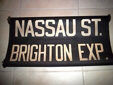 "NYC SUBWAY ROLL SIGN NY 24"" NASSAU WALL STREET BRIGHTON BEACH BROOKLYN EXPRESS"
