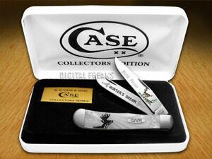 Case xx Trapper Knife Buck Fever White Pearl Corelon 1/1000 Pocket