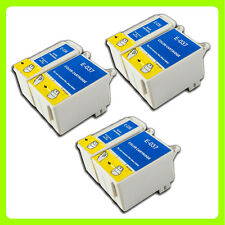 6 ink Cartridges Replace for Epson Stylus C44 C44+ C44UX C46 C42 Printer