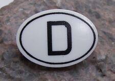International Vehicle Registration Code Germany East German Letter D Pin Badge