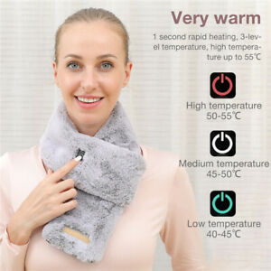 Winter Scarf USB Electric Heating Scarf Thick Warm Power Heating Pad Lightweight