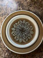 "4 Franciscan NUT TREE Salad Plates Brown Aqua Blue Dinnerware  8.5"""