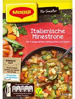Maggi Geniesser Minestrone Suppe italienische Suppe mit Bohnen und Nudeln