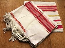 WOMAN'S JEWISH PINK/GOLD TALLIT PRAYER SHAWL SIZE 57-180 CM