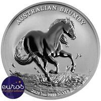 AUSTRALIE 2020 - 1$ AUD - Brumby australien - 1 oz (once) argent 999,99‰