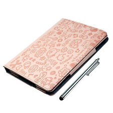 Cute PU Leather Case Padded cover Stand & long Stylus for Apple iPad Mini