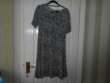 Originals, short sleeve, mock grey animla print dress, viscose/elastane, size 12
