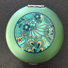 #2341 Dual Sided Magnifying Compact Mirror-Wellspring Emerald Meadows-Eden Green