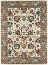 5' x 8' Karastan Machine Woven Area Rug Musi Cream Citron Tobacco Aquamarine