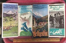 German Pre Wwll Garmisch Partnkirchen Brochures Maps