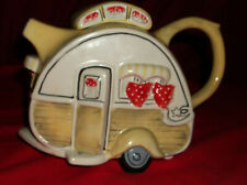 Trailer Airstream Teapot Blue Sky Heather Goldminc Camper Camping Pitcher & Mug