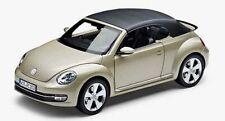 VW BEETLE CABRIO 1:18 MOON ROCK SILBER MODELL MODELLAUTO – NEU ORIGINAL VW